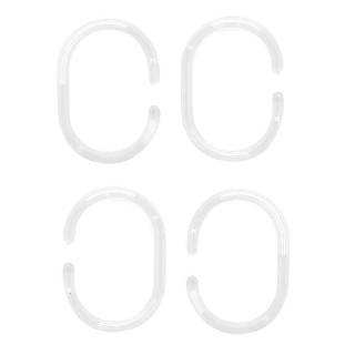 Κρίκοι Κουρτινών Πλαστικοί Διάφανοι Grekon 12τεμ