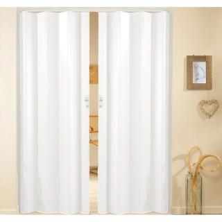Δίφυλλη πτυσσόμενη πόρτα πλαστική Zitaflex Μονόχρωμη Λευκό Πάγου 11Α χωρίς τζαμάκι