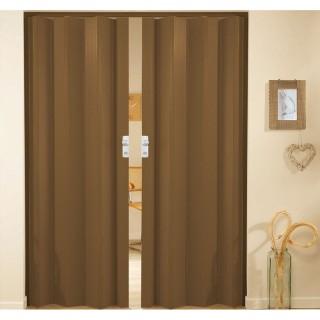 Δίφυλλη πτυσσόμενη πόρτα πλαστική Zitaflex Μονόχρωμη Κερασιά 17Α χωρίς τζαμάκι