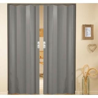 Δίφυλλη πτυσσόμενη πόρτα πλαστική Zitaflex Μονόχρωμη Γκρι 23Α χωρίς τζαμάκι
