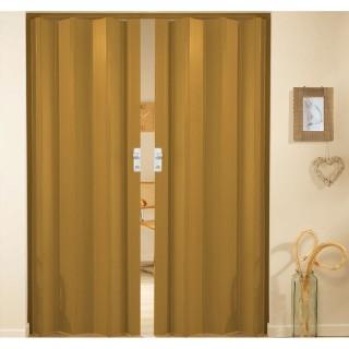 Δίφυλλη πτυσσόμενη πόρτα πλαστική Zitaflex Μονόχρωμη Δρύς Σκούρο 24Α χωρίς τζαμάκι