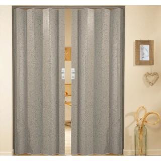 Δίφυλλη πτυσσόμενη πόρτα πλαστική Zitaflex χρώμα Ξύλου Λευκό Πεύκο 22 χωρίς τζαμάκι