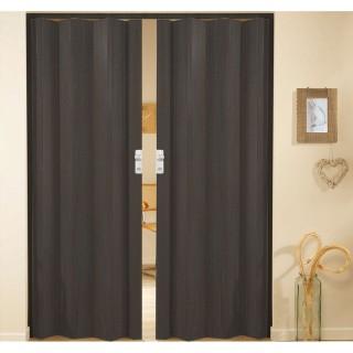 Δίφυλλη πτυσσόμενη πόρτα πλαστική Zitaflex χρώμα Ξύλου Βένγκε 26 χωρίς τζαμάκι