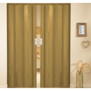Δίφυλλη πτυσσόμενη πόρτα πλαστική Zitaflex χρώμα Ξύλου Δρυς 13 χωρίς τζαμάκι