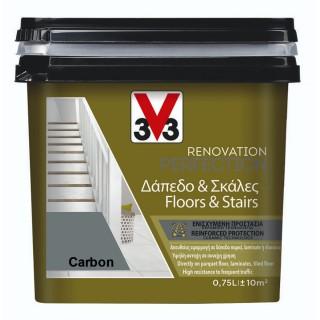 Χρώμα Νερού Ανακαίνισης Δαπέδου - Σκάλας V33 RENOVATION PERFECTION FLOORS & STAIRS 0,75LT Carbon
