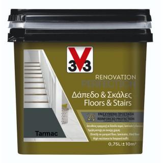 Χρώμα Νερού Ανακαίνισης Δαπέδου - Σκάλας V33 RENOVATION PERFECTION FLOORS & STAIRS 0,75LT Tarmac
