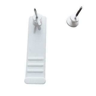 Άγκιστρο Κάδρων Λευκό Πλαστικό με καρφί 10 Τεμάχια 3000 Inofix inofix 2766d1 Wall Hook
