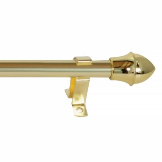 Μεταλλικό Πτυσσόμενο Κουρτινόξυλο Μπριζ 55 - 85cm Φ12 Χρυσό
