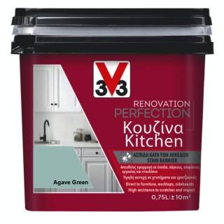 Χρώμα Νερού Ανακαίνισης Κουζίνας V33 RENOVATION PERFECTION KITCHEN 0,75LT Agave Green