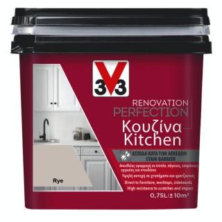 Χρώμα Νερού Ανακαίνισης Κουζίνας V33 RENOVATION PERFECTION KITCHEN 0,75LT Rye Satin