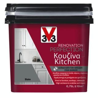 Χρώμα Νερού Ανακαίνισης Κουζίνας V33 RENOVATION PERFECTION KITCHEN 0,75LT Slate