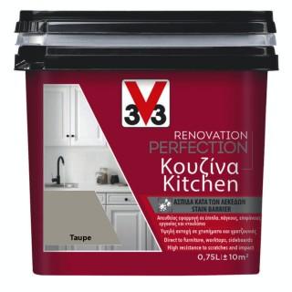 Χρώμα Νερού Ανακαίνισης Κουζίνας V33 RENOVATION PERFECTION KITCHEN 0,75LT Taupe