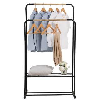 Κρεμάστρα ρούχων Δαπέδου Διπλή με ένα ράφι 100x39x150cm BPC2100 BORMANN