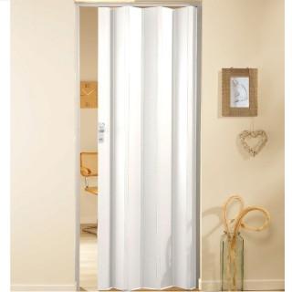 Μονόφυλλη πτυσσόμενη πόρτα πλαστική Zitaflex Χρώμα Μονόχρωμη Λευκό Πάγου 11Α χωρίς τζαμάκι