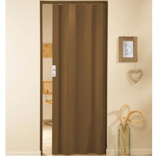 Μονόφυλλη πτυσσόμενη πόρτα πλαστική Zitaflex Μονόχρωμη Κερασιά 17Α χωρίς τζαμάκι