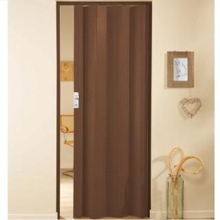 Μονόφυλλη πτυσσόμενη πόρτα πλαστική Zitaflex Μονόχρωμη Μαόνι 14Α χωρίς τζαμάκι