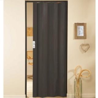 Μονόφυλλη πτυσσόμενη πόρτα πλαστική Zitaflex Χρώμα Ξύλου Βένγκε 26 χωρίς τζαμάκι