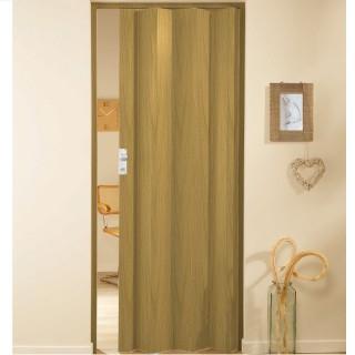 Μονόφυλλη πτυσσόμενη πόρτα πλαστική Zitaflex Χρώμα Ξύλου Δρύς 13 χωρίς τζαμάκι