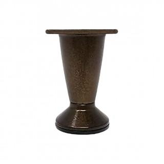 Πόδι επίπλου αλουμινίου οξειδέ 072-x007 Metalor 10cm