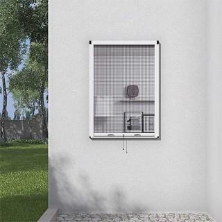 Σήτα ελατηρίου κάθετης κίνησης για κουφώματα παραθύρων με έλλειψη διαθέσιμου χώρου τοποθέτησης σε Λευκό χρώμα