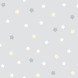 Παιδική ταπετσαρία τοίχου Γαλάζια με Χρωματιστά αστέρια Διάσταση Ρολού ( 1000 × 53 cm) 225-3