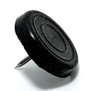 Καρφωτά τακάκια επίπλων λαστιχένια Μαύρα στρόγγυλα 20mm