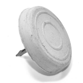 Καρφωτά τακάκια επίπλων λαστιχένια Λευκά στρόγγυλα 20mm