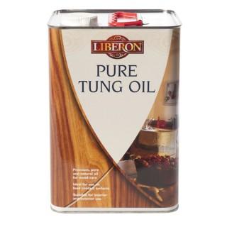 Φυσικό λάδι ξύλου Ταχυστέγνωτο για επιφάνειες που έρχονται σε επαφή με τρόφιμα Liberon TUNG OIL Pure 1Lt