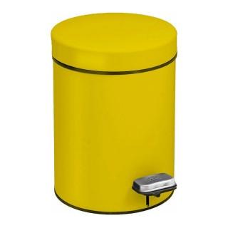 Χαρτοδοχείο Pam & Co 5Lit Soft Close ø20xH28cm Yellow 099-603