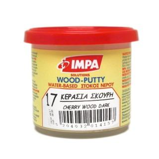 Ξυλόστοκος Νερού Νο17 Χρώμα Κερασιά Σκούρη για διόρθωση ελλατωματικών σημείων του ξύλου 200gr- Impa
