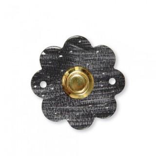 Κουδούνι μπουτόν εξώπορτας ρουστίκ σειρά 224 Μαύρο πατίνα ασημί