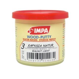 Ξυλόστοκος Νερού Νο3 Χρώμα Καρυδιά Ανοιχτή για διόρθωση ελλατωματικών σημείων του ξύλου 200gr- Impa