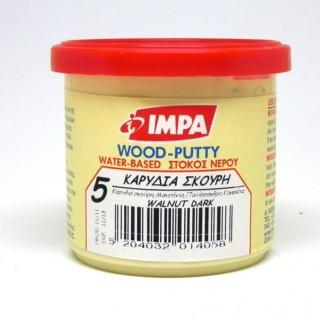 Ξυλόστοκος Νερού Νο5 Χρώμα Καρυδιά Σκούρη για διόρθωση ελλατωματικών σημείων του ξύλου 200gr- Impa