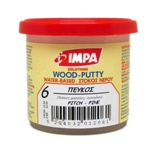 Ξυλόστοκος Νερού Νο6 Χρώμα Πεύκο για διόρθωση ελλατωματικών σημείων του ξύλου 450gr - Impa