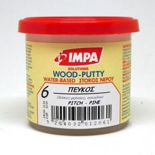 Ξυλόστοκος Νερού Νο6  Χρώμα Πεύκο για διόρθωση ελλατωματικών σημείων του ξύλου 200gr- Impa