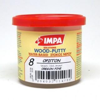 Ξυλόστοκος Νερού Νο8  Χρώμα Όριγγον για διόρθωση ελλατωματικών σημείων του ξύλου 200gr- Impa