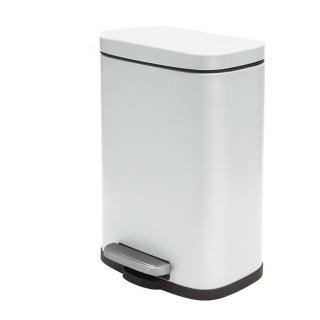 Χαρτοδοχείο μεταλλικό 5lit λευκό Akira 05392.004