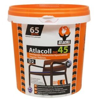 Ξυλόκολλα Atlacoll Κρυσταλιζέ Νο 45 - 1kgr