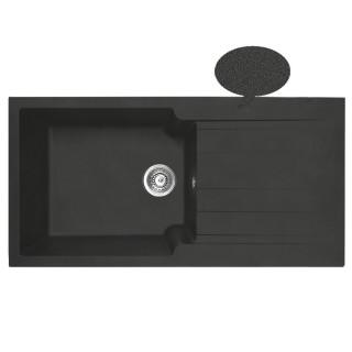 Νεροχύτης Συνθετικός Duralit KS105 (100x50) Negro Grafito
