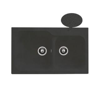 Νεροχύτης Συνθετικός Duralit KZ200 (83x50) Negro Grafito