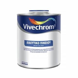 Διαλυτικό Πινέλου για υποστρώματα και βερνικοχρώματα που εφαρμόζονται με πινέλο ή ρολό  Vivechrome 0,75Lt