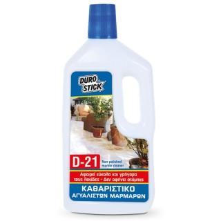 Καθαριστικό αγυάλιστων μαρμάρων D-21 της Durostick σε 1L ή 5L