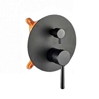 Εντοιχιζόμενη μπαταρία ντουζιέρας δύο ροών Pure Μαύρη 087133