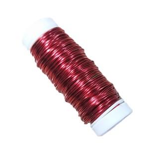 Διακοσμητικό Σύρμα Επισμαλτωμένο σε Χρώμα Κόκκινο Πάχους 0,50mm 50gr Filgraf 29834
