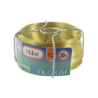 Διακοσμητικό Σύρμα Ορείχαλκου Πάχους 0,80mm 50m Filgraf Νο3 95642