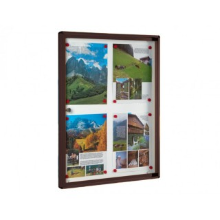 Πίνακας ανακοινώσεων 701 Μοντέλο 730mm x 550mm σε Καφέ