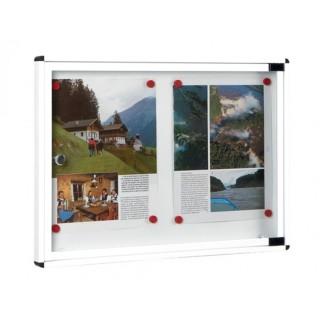 Πίνακας ανακοινώσεων 702 Μοντέλο 400mm x 550mm σε Λευκό