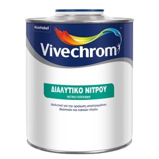 Διαλυτικό Νίτρου για αραίωση υποστρωμάτων, βερνικιών και λακκών νίτρου Vivechrome 0,75Lt
