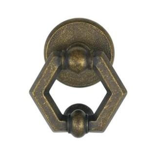 Ρόπτρο Πόρτας - Benini Esagono 20B - Αντικέ Ορείχαλκος 10,5cm x 12,5cm