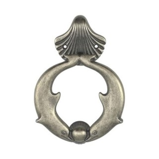 Ρόπτρο Πόρτας - Benini Dolphin 45 - Παλαιωμένος Σίδηρος 11,8cm x 17cm